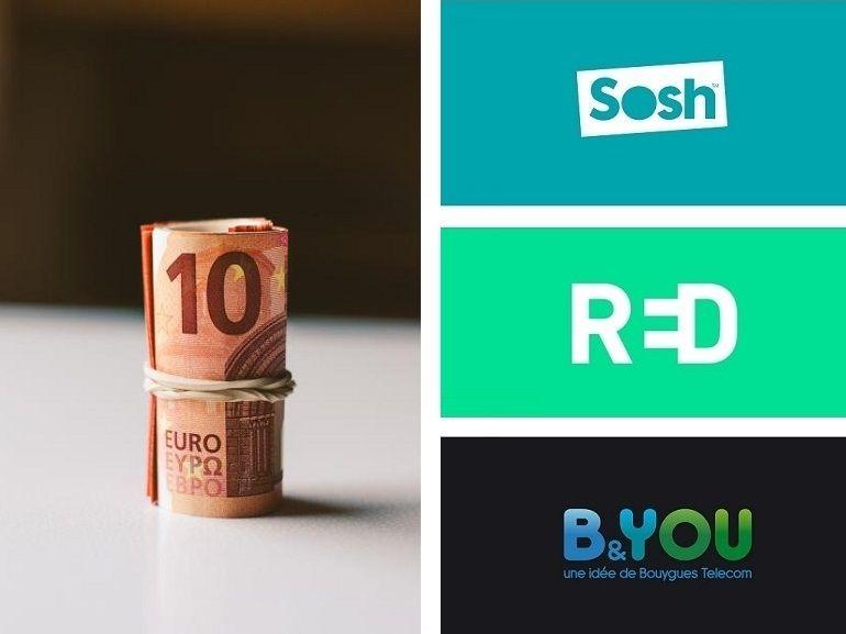 RED by SFR, B&You ou Sosh : on refait le match du meilleur forfait à 10 euros