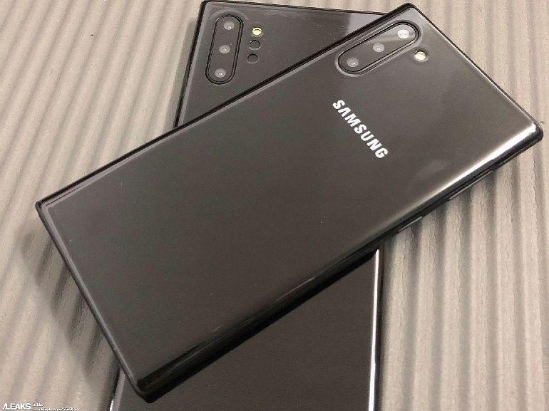 Samsung Galaxy Note 10 et Note 10+ : des modèles d'exposition dans la nature