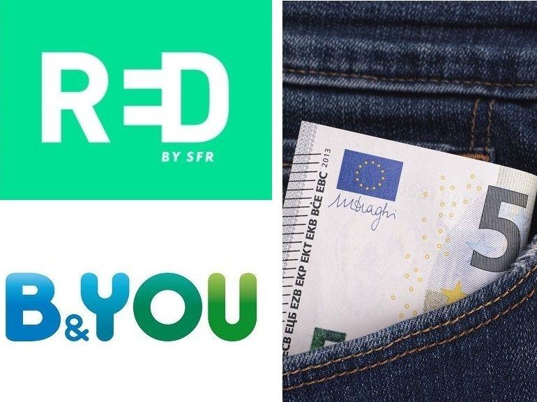 RED by SFR et B&You prolongent leurs forfaits 5 Go à 5€ : lequel est le meilleur ?