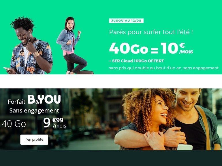 RED by SFR prolonge son forfait 40 Go à 10€ et B&You le suit : lequel choisir ?