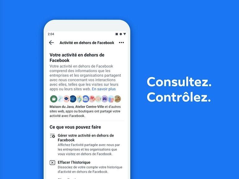 Facebook : un outil pour vous aider à gérer les données envoyées au réseau par d'autres sites
