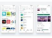 Le Google Play Store adopte un nouveau design plus épuré