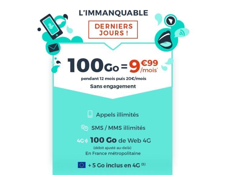 Le forfait mobile 100 Go à 10€ de Cdiscount prendra fin demain
