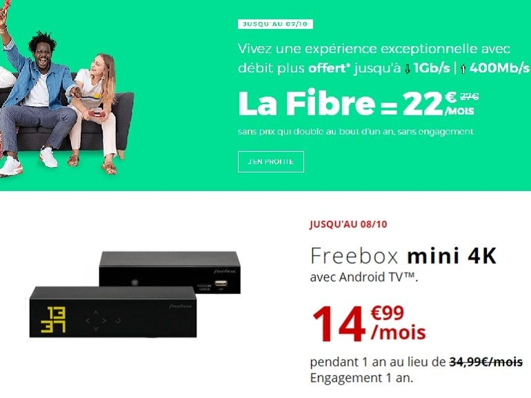 SFR vs. Free : quelle offre fibre choisir entre la RED box et la Freebox Mini 4K ?