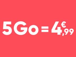 Un forfait mobile jusqu'à 50 Go et appels illimités dès 4,99 euros !