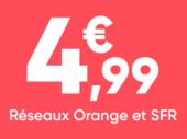 Forfait mobile : jusqu'à 50 Go sur les réseaux Orange et SFR à partir 4,99 euros