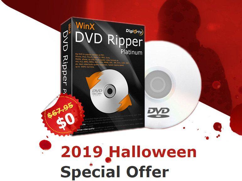 Bon plan Halloween : une licence WinX DVD Ripper Platinum offerte