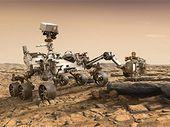 Le rover Mars 2020 de la Nasa pour la première fois posé sur ses roues