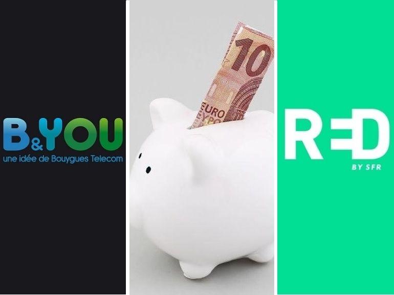 RED / SFR vs. B&YOU : quel est le meilleur bon plan forfait mobile de la semaine ?
