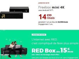 Free ou RED by SFR : quelle est la meilleure box fibre cette semaine ?