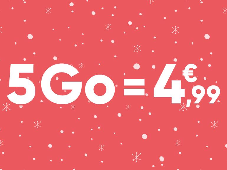 Forfait mobile ajustable : jusqu'à 50 Go sur les réseaux Orange et SFR dès 4,99 euros par mois