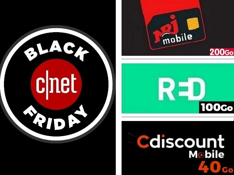 RED by SFR, NRJ Mobile ou Cdiscount Mobile : quel bon plan forfait Black Friday choisir ?
