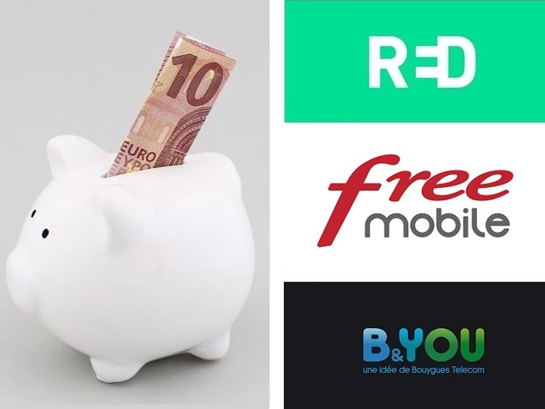 Free Mobile, RED by SFR ou B&You : quel est forfait mobile en promo de la semaine ?