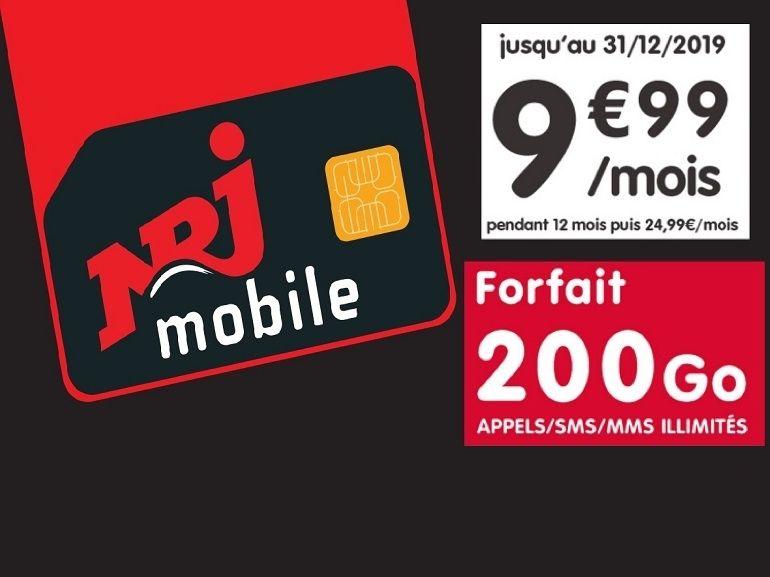 Avec son forfait mobile 200 Go à moins de 10€, NRJ Mobile a-t-il plié le game ?