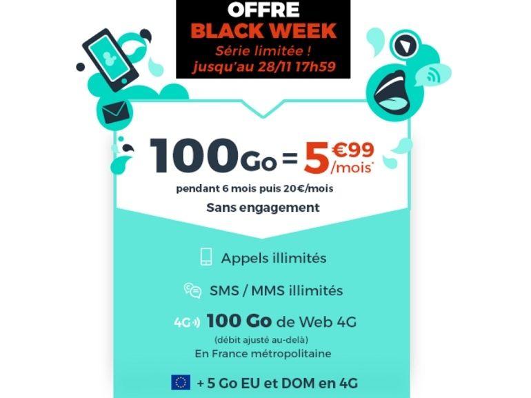 Forfait mobile : ce que vaut l'offre Cdiscount Mobile 100 Go à 5,99 €