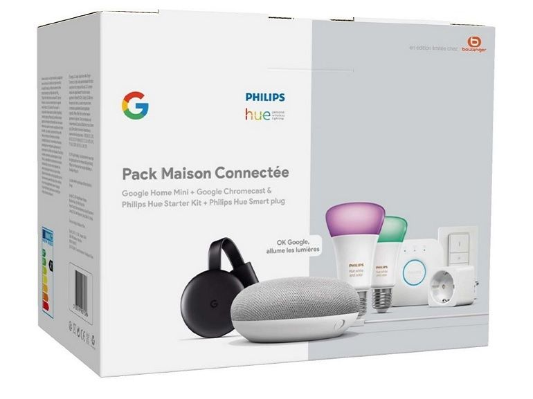 Bon plan : pack Philips HUE + Chromecast + Smart plug + Google Home Mini à 199€ [-33%]