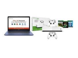 LE bon plan Black Friday du jour : un PC Portable HP 14 pouces + Xbox One S All Digital + 3 jeux + 2nd manette à 279,99€ sur Cdiscount !