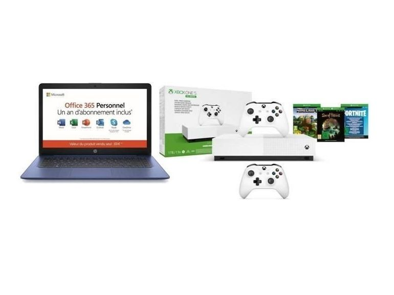 LE bon plan Black Friday du jour : un PC Portable HP 14 pouces + Xbox One S All Digital + 3 jeux + 2nd manette à 279,99€ sur Cdiscount !