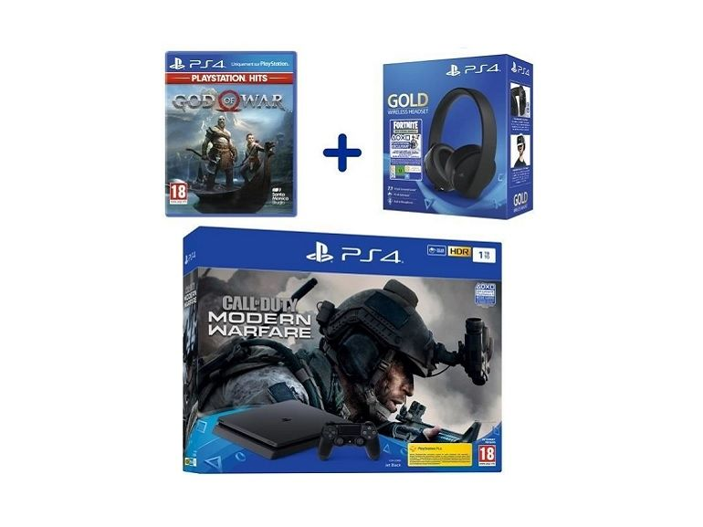 Bon plan : le pack Sony PS4 Slim 1 To + casque sans fil Sony Gold + 2 Jeux à 339,99€