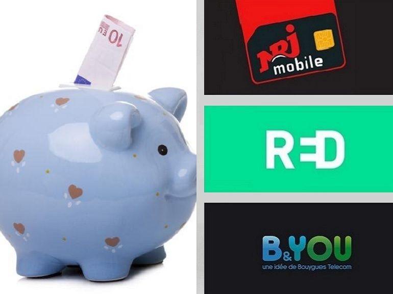 RED SFR, B&You ou NRJ Mobile : quel bon plan forfait mobile choisir ?