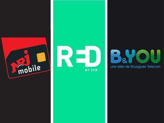 RED by SFR vs B&You vs NRJ Mobile : quel est le meilleur forfait 20 Go à 5 euros ?