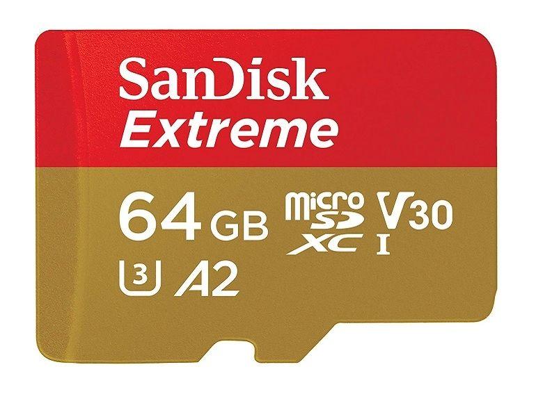 Bon plan : 44% de réduction sur la carte microSDXC SanDisk Extreme (64 Go)