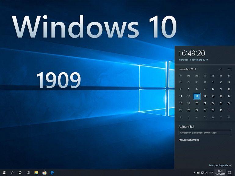 Windows 10 1909 : les nouveautés en images