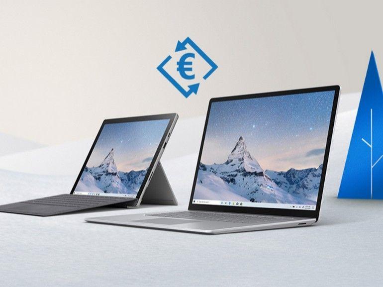 Achetez une Surface Pro 7 ou un Surface Laptop 3, Microsoft vous reprend votre ancien PC ou Mac jusqu'à 950 euros