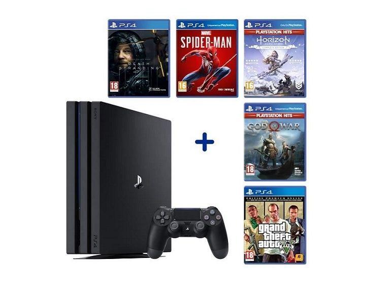 Bon plan : Sony PlayStation 4 Pro (1 To) + 5 jeux à 389,90€ au lieu de 549 sur Cdiscount