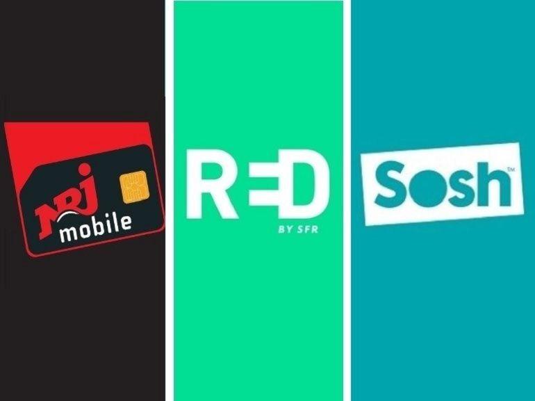 RED SFR, Sosh ou NRJ Mobile : le match des forfaits en promo autour de 10 euros