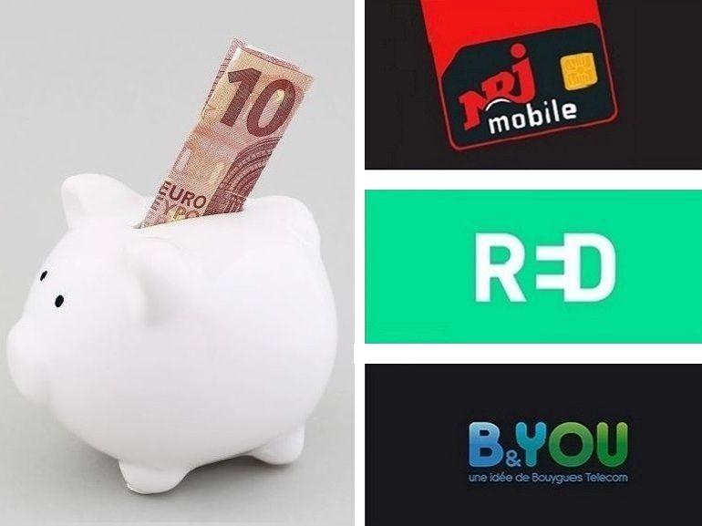 RED SFR, B&You et NRJ Mobile : quel est le meilleur forfait sans engagement de la semaine ?