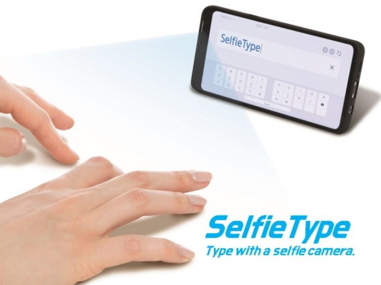 CES 2020 : avec SelfieType, Samsung imagine un clavier virtuel invisible