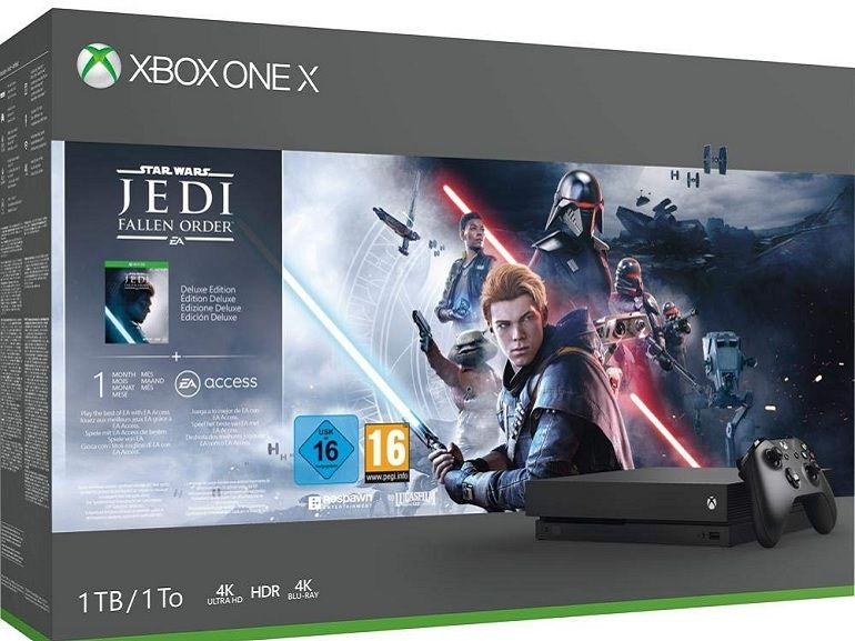 Bon plan : Xbox One X (1 To) + Star Wars Jedi : Fallen Order à 249,99€