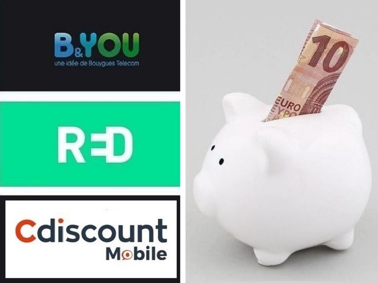 RED SFR, B&You ou Cdiscount mobile : le match des forfaits en promo avec 60 Go de data