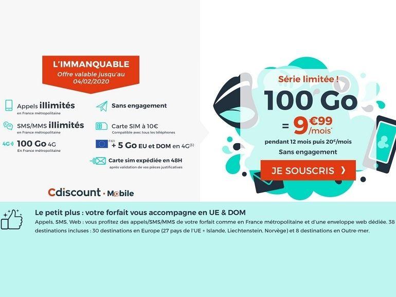 Un forfait mobile 100 Go à 10 euros, mais pour quoi faire ?