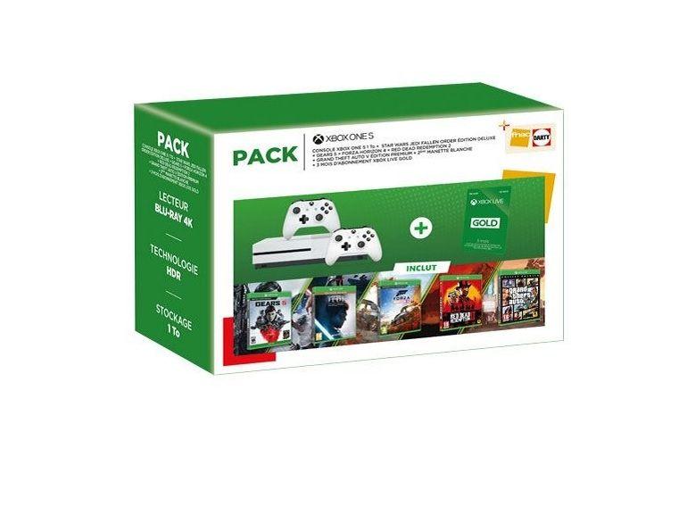 Bon plan : le pack Xbox One S +5 jeux + 2e manette à seulement 249,99€