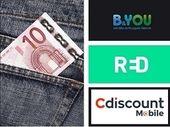 RED SFR, B&You ou Cdiscount mobile : quel forfait mobile pas cher sans engagement choisir ?
