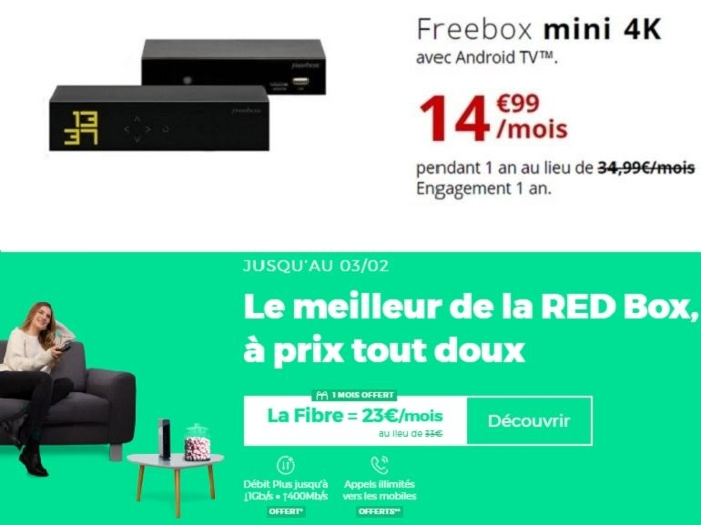 RED Box ou Freebox mini 4K : quelle est la meilleure box internet fibre du moment ?