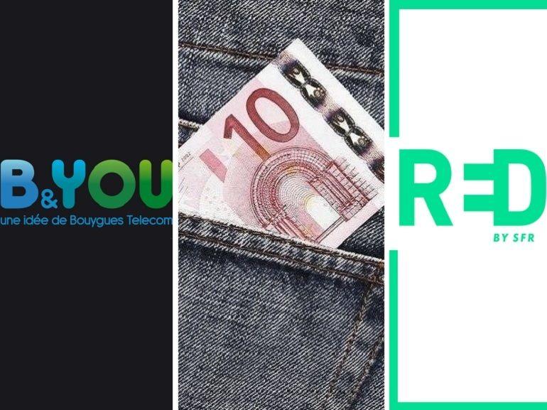 Forfait en promo à 12 euros : qui choisir entre RED et B&You cette semaine ?