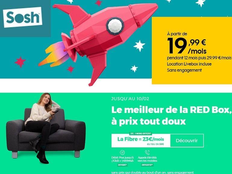 RED by SFR ou Sosh : quelle est la meilleure box fibre sans engagement de la semaine ?