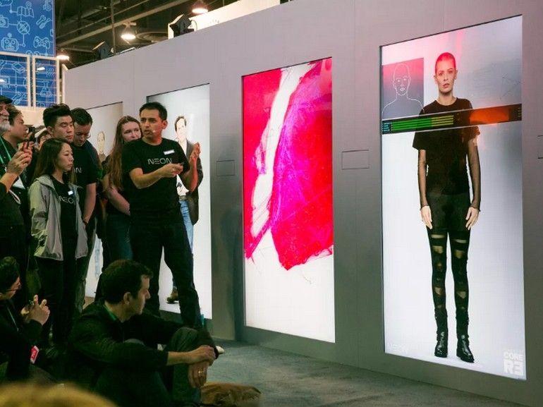 """CES 2020 : on a discuté avec """"l'humain artificiel"""" de Samsung"""