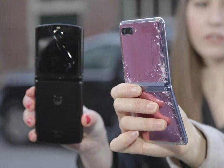 Galaxy Z Flip vs. Motorola Razr : voici les résultats du crash test