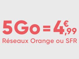Bon plan forfait mobile : jusqu'à 50% de réduction, sans engagement, sur réseaux Orange et SFR