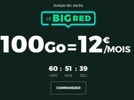 Forfait mobile : 100 Go pour 12 euros, RED propose la meilleure offre sans engagement
