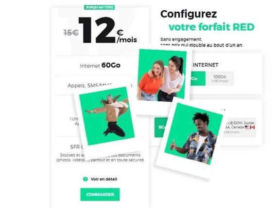 Forfait mobile : dernières heures pour profiter de l'offre RED 60 Go à 12 euros