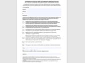 Attestation de déplacement officielle ou une version simplifiée à télécharger