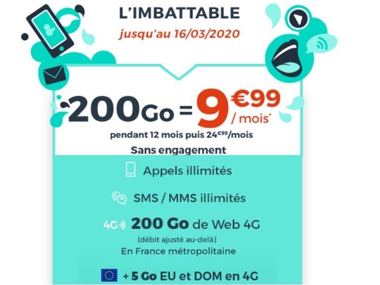 Forfait mobile : que vaut l'offre Cdiscount Mobile 200 Go à 9,99 euros ?