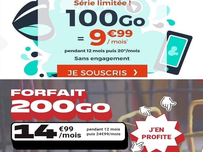 Forfait mobile : deux offres 4G avec 100 voire 200 Go pour vous passer de l'ADSL, laquelle choisir ?
