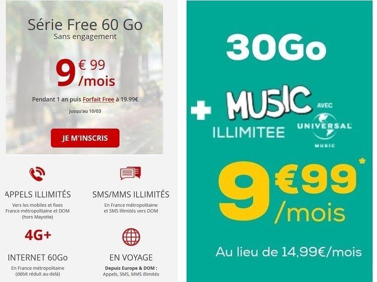 Forfait mobile : la meilleure offre à 10 euros de la semaine