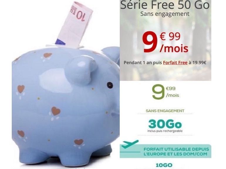 Forfait mobile : La Poste Mobile vs. Free Mobile, quelle est la meilleure offre à 10€ actuellement ?